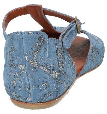 Blauwe Lilimill Sandalen in nubuck (219691)