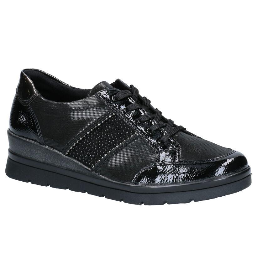 Remonte Chaussures à lacets en Noir en simili cuir (260584)