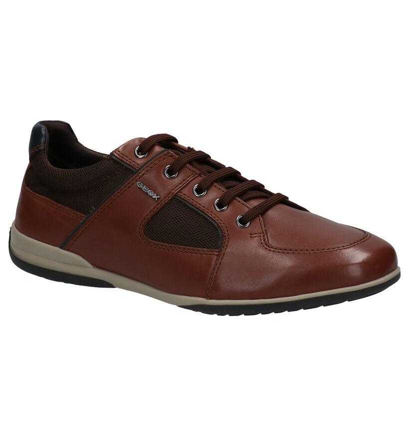 Geox Chaussures basses en Cognac en textile (266683)