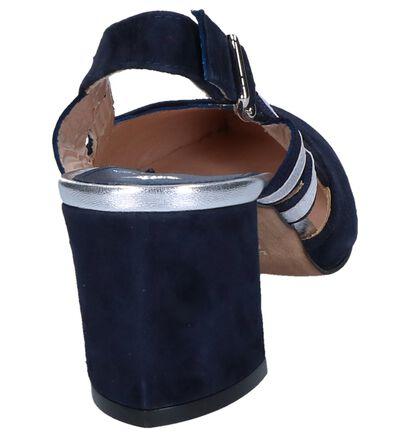 Okergele Pumps met Open Hiel Maripé , Blauw, pdp