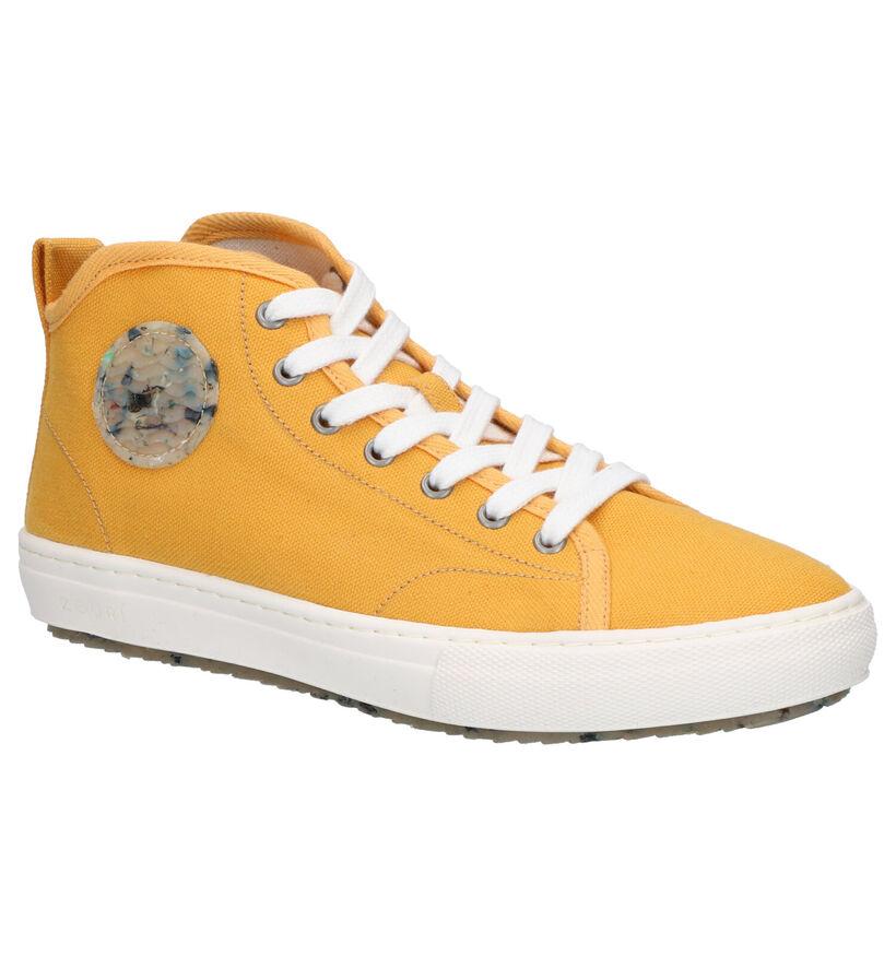 Zouri Chlorella Gele Sneakers in stof (275255)