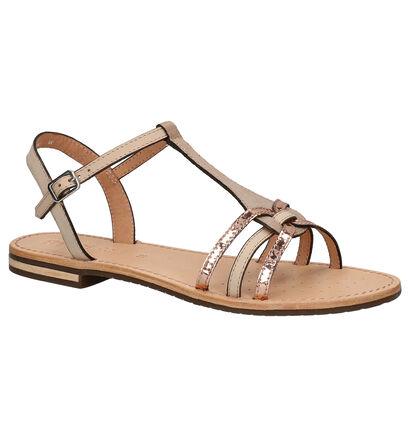 Geox Gouden Sandalen in leer (266835)