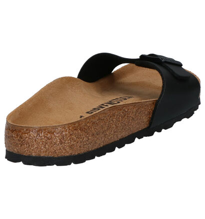 Birkenstock Madrid Zwarte Slippers in kunstleer (271260)