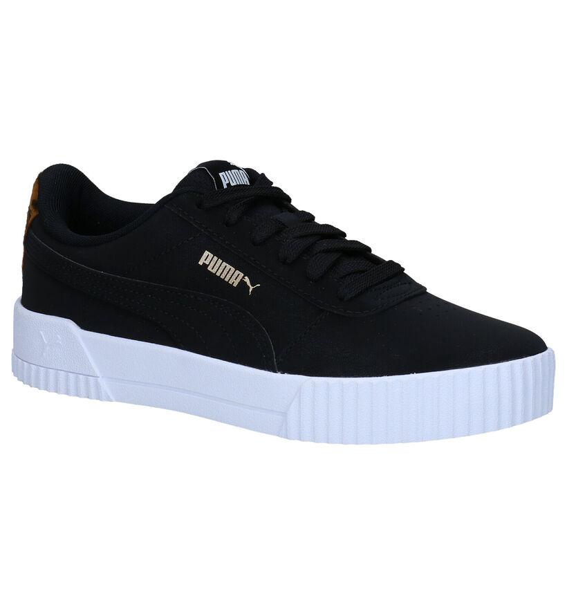 Puma Carina Leo Zwarte Sneakers in kunstleer (276777)