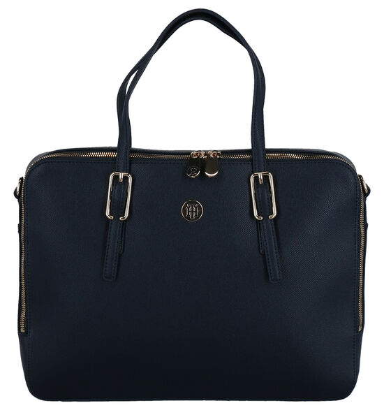 Tommy Hilfiger Honey Blauwe Laptoptas