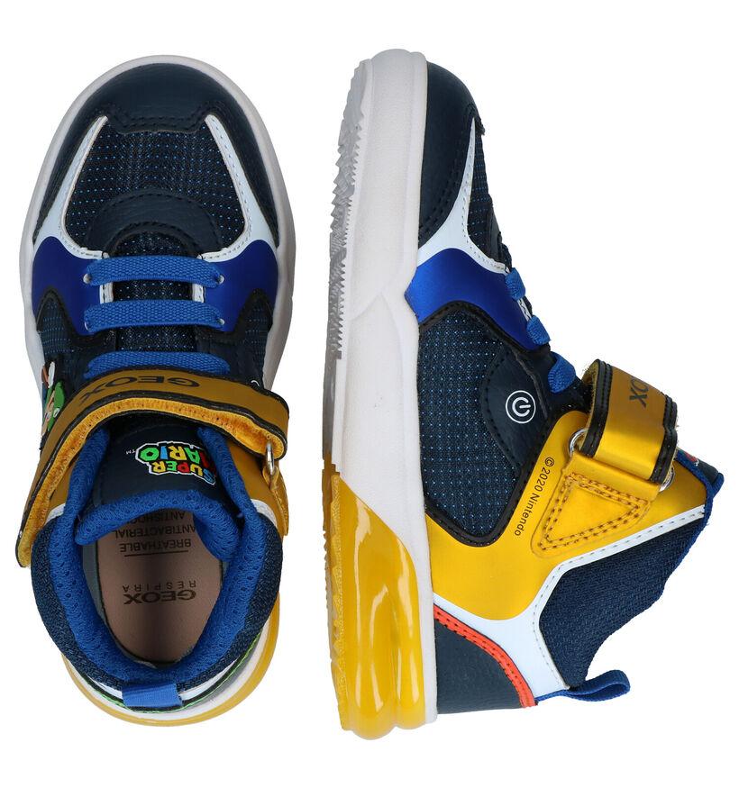 Geox Super Mario Blauwe Sneakers in kunstleer (295101)