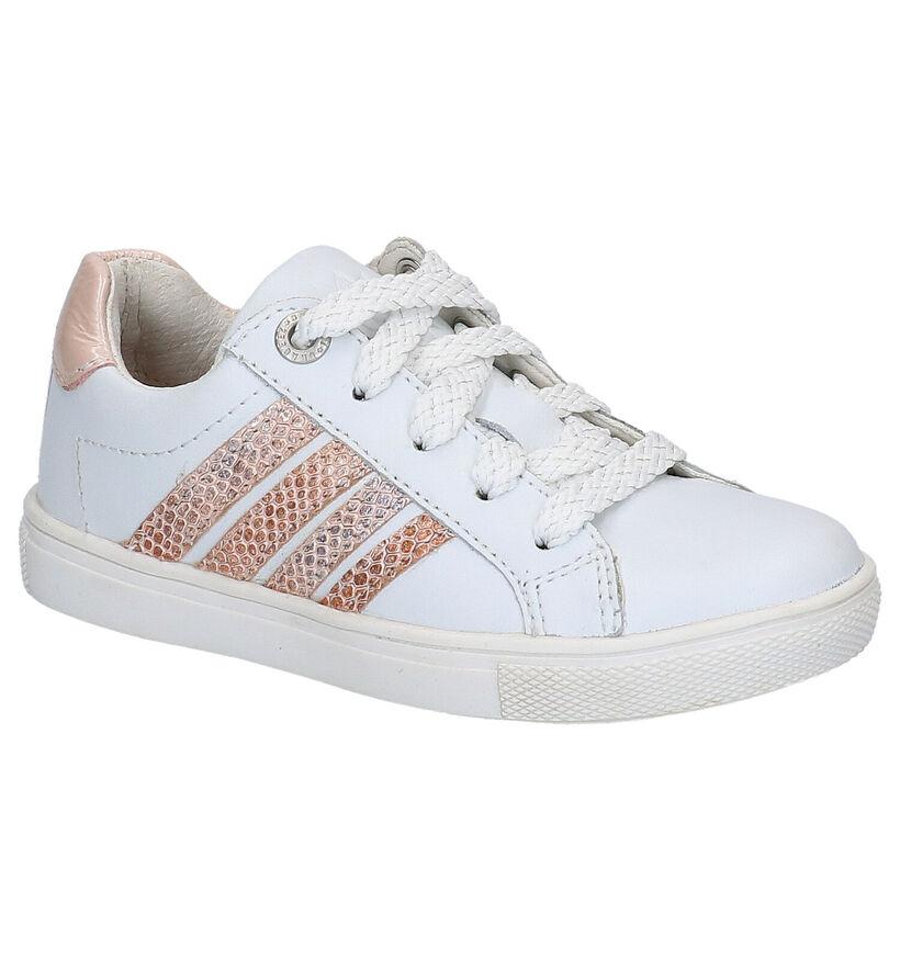 Braqeez Baskets basses en Blanc en cuir (275288)
