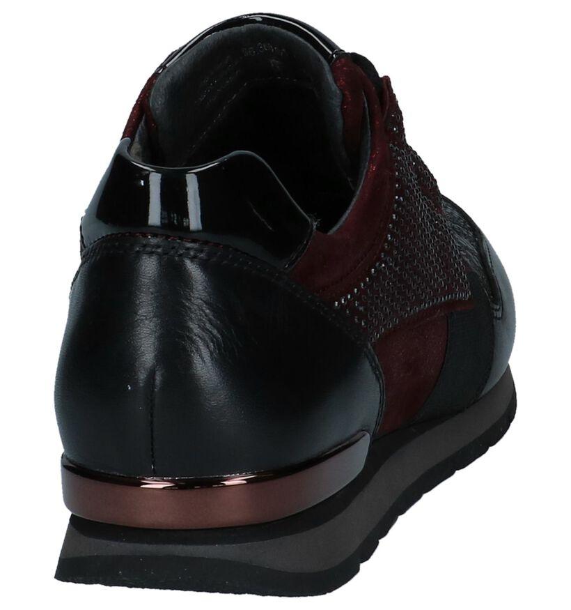 Zwarte Camouflage Sneakers Gabor Optifit in daim (231167)