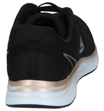 Skechers Memory Foam Baskets basses en Noir en textile (252002)