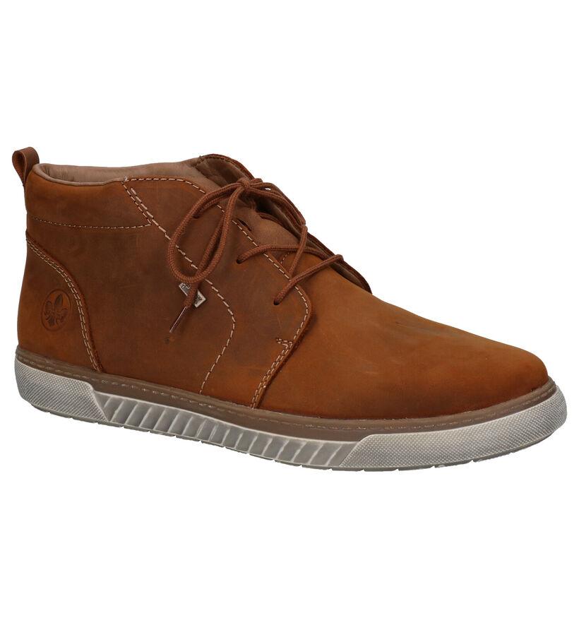Rieker Chaussures hautes en Cognac en nubuck (281824)