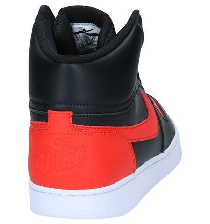 Nike Ebernon Baskets hautes en Noir en cuir (222199)