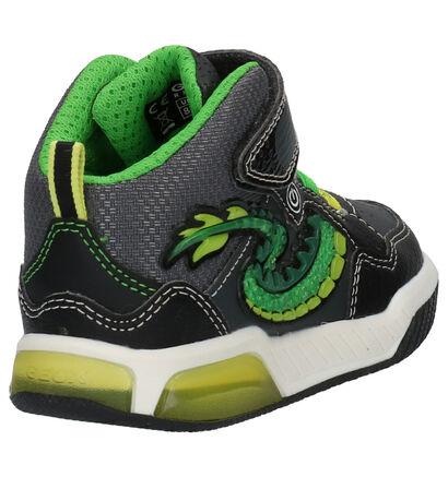 Geox Inek Zwarte Sneakers in kunstleer (254510)