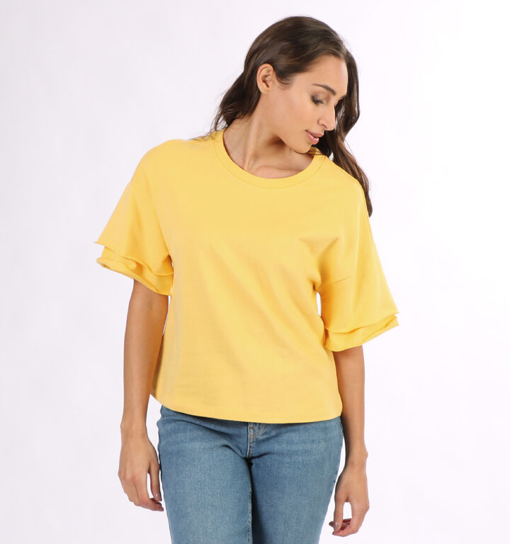 Vero Moda Gabbi T-shirt en Jaune