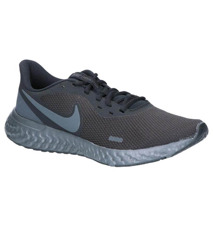 Nike Revolution 5 Baskets en Noir en textile (284536)