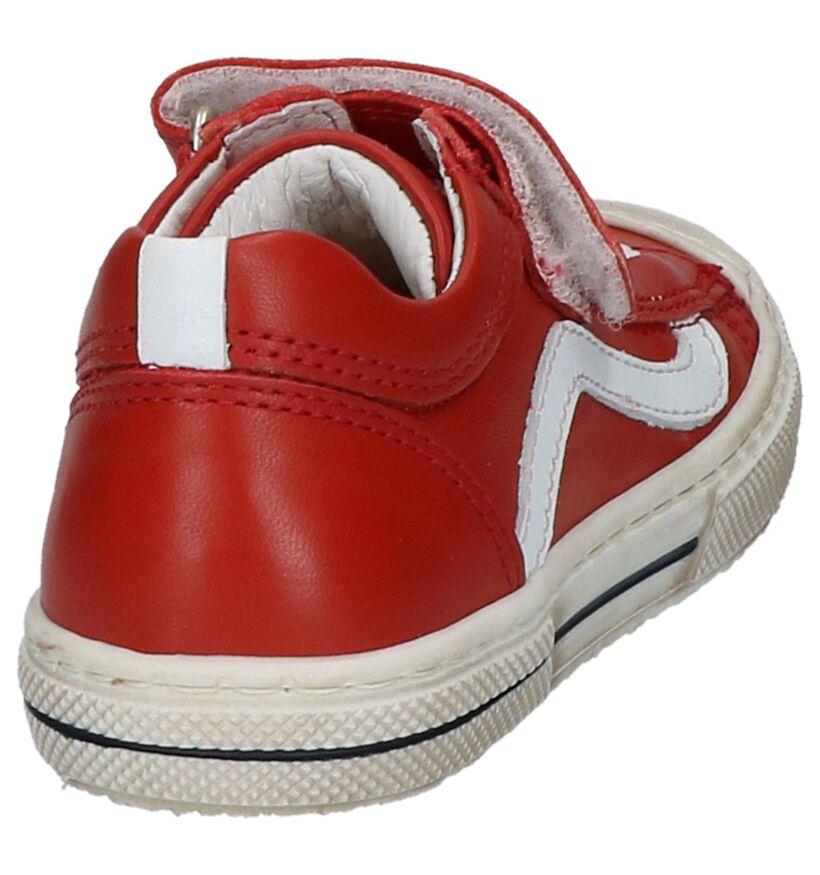 STONES and BONES Baskets basses en Rouge en cuir (217200)
