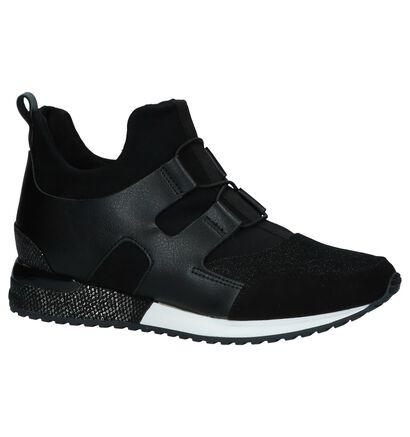 Zwarte Slip-on Sneakers La Strada in kunstleer (239158)