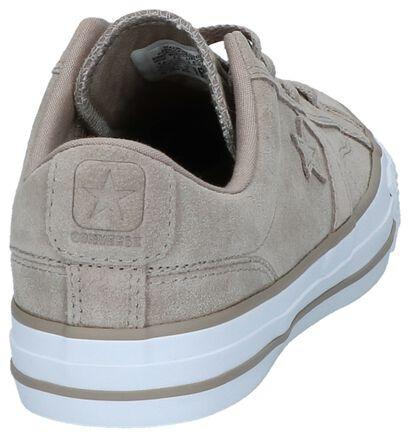 Donkerbeige Lage Sportieve Sneakers Converse Star Player Ox in daim (222587)