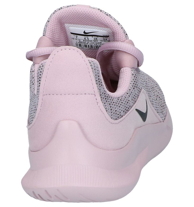 Nike Baskets slip-on en Rose en textile (237844)