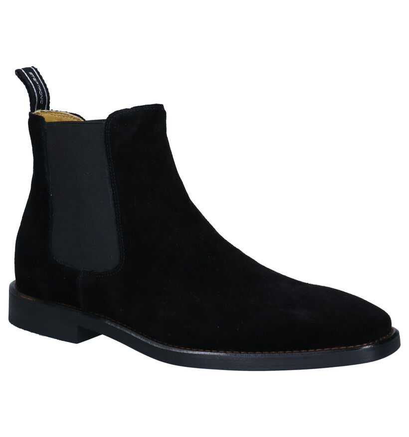 Steptronic Mayfair zwarte Chelsea Boots in nubuck (281381)