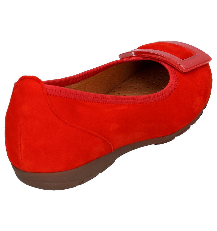 Gabor Hovercraft Ballerines en Rouge en daim (271496)