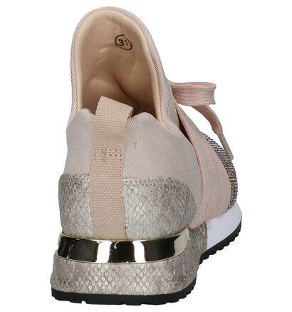 La Strada Zwarte Slip-on Sneakers in stof (254972)