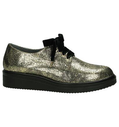 Via Roma Chaussures à lacets en Or en cuir (185577)