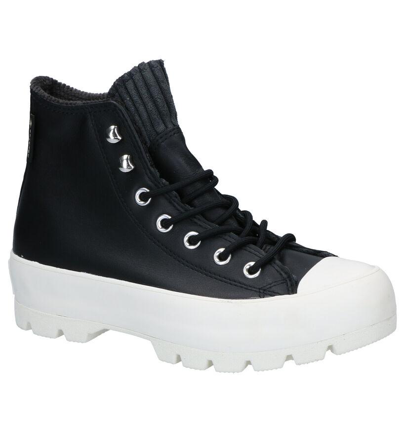 Converse As Lugged Zwarte Sneakers in leer (252789)