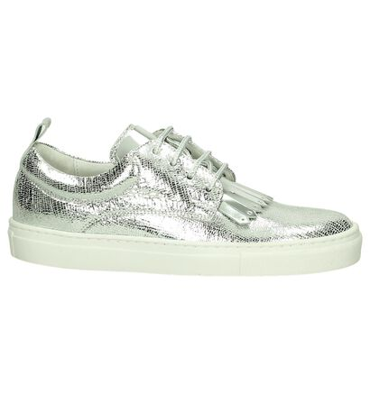 Hampton Bays Zilveren Sneakers in leer (192238)
