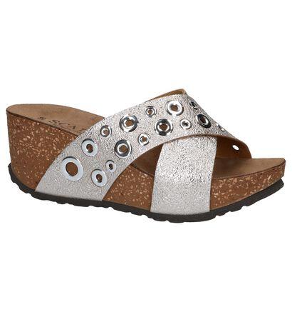 Scapa Nu-pieds à talons en Or en simili cuir (215510)
