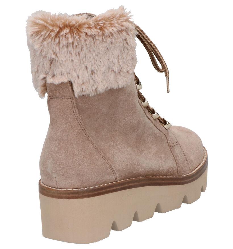 Gabor Best Fitting Beige Boots in daim (260109)