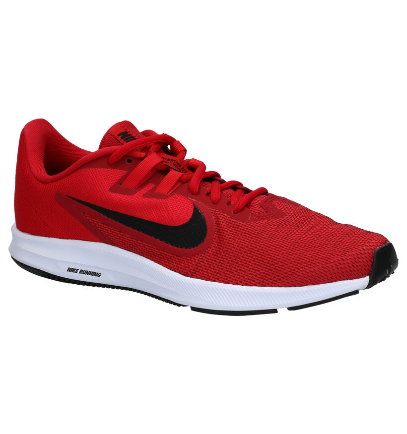 Nike Downshifter 9 Baskets en Rouge en textile (254041)