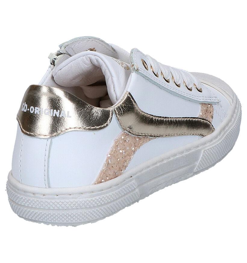 STONES and BONES Maust Chaussures à lacets en Bleu en cuir (280375)
