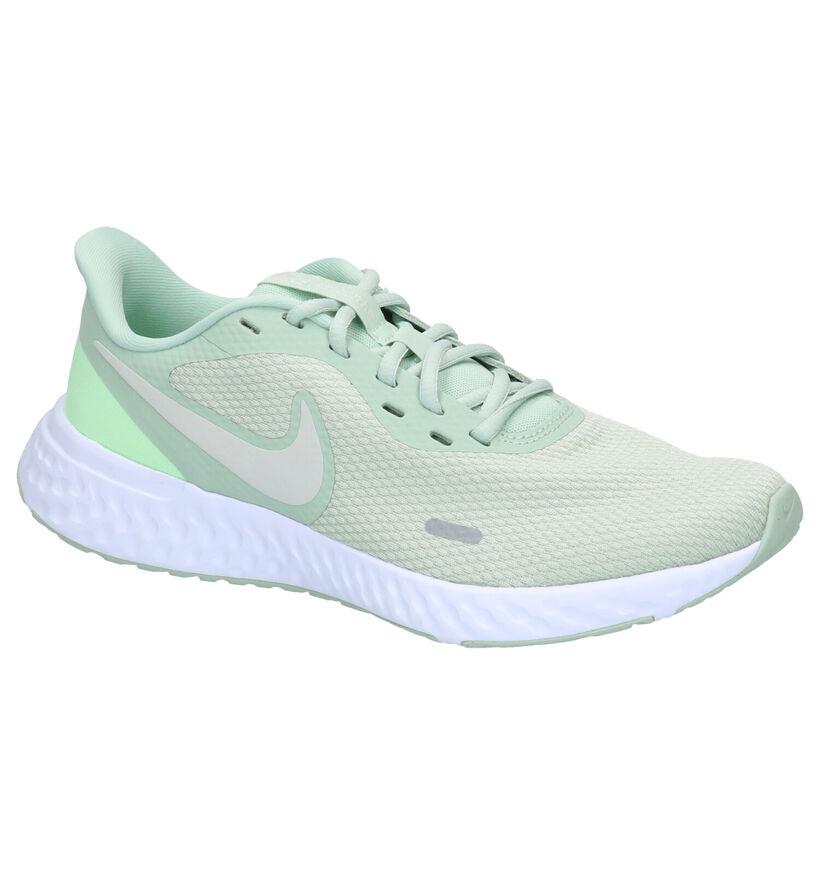 Nike Revolution 5 Witte Sneakers in stof (265865)