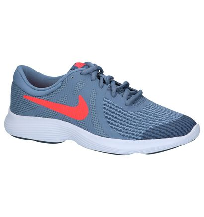 Nike Revolution Baskets basses en Bleu en textile (222215)