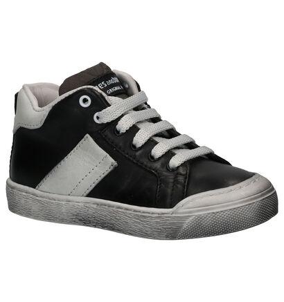 Stones and Bones Rioco Chaussures Hautes en Noir en cuir (259877)