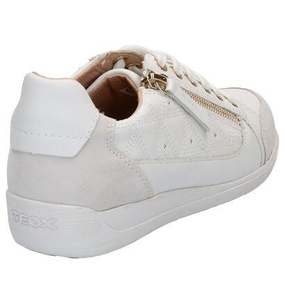 Geox Myria Chaussures à Lacets en Blanc en cuir (266837)