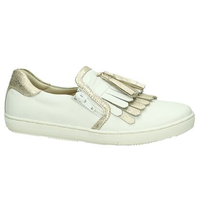 Hampton Bays Chaussures slip-on en Blanc en cuir (189597)