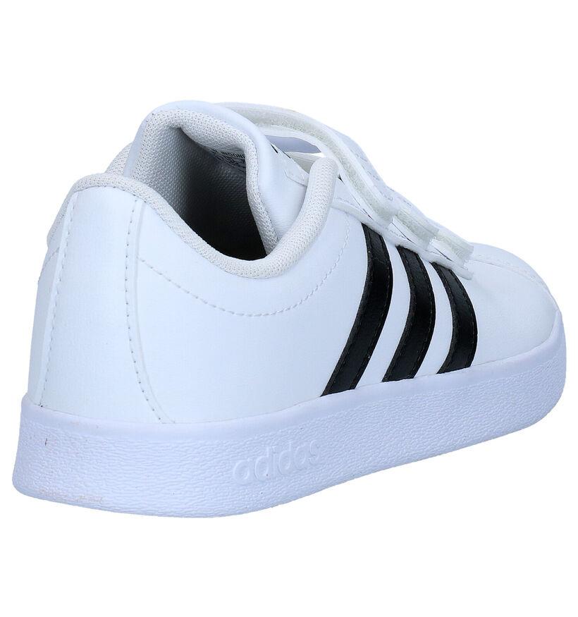 adidas VL Court 2.0 Witte Sneakers in kunstleer (273460)