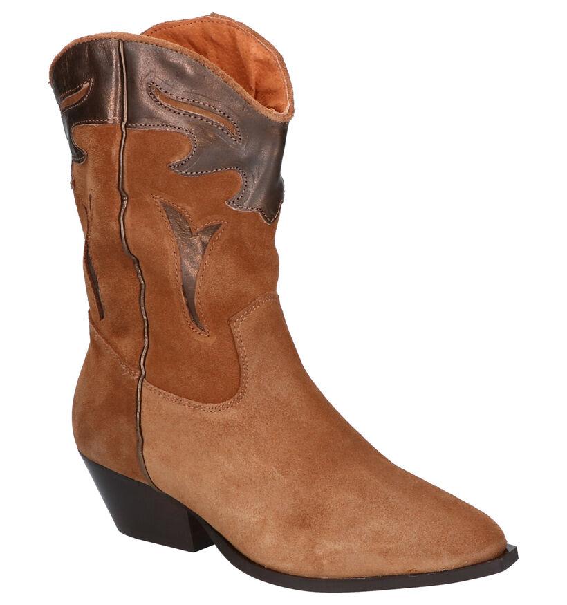 Tango Nina Bottes Western en Cognac en cuir (272690)