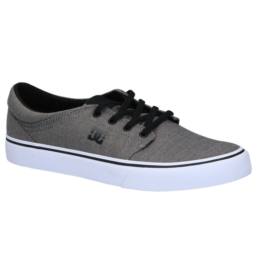 DC Shoes Trase TX Grijze Skatesneakers in stof (267984)