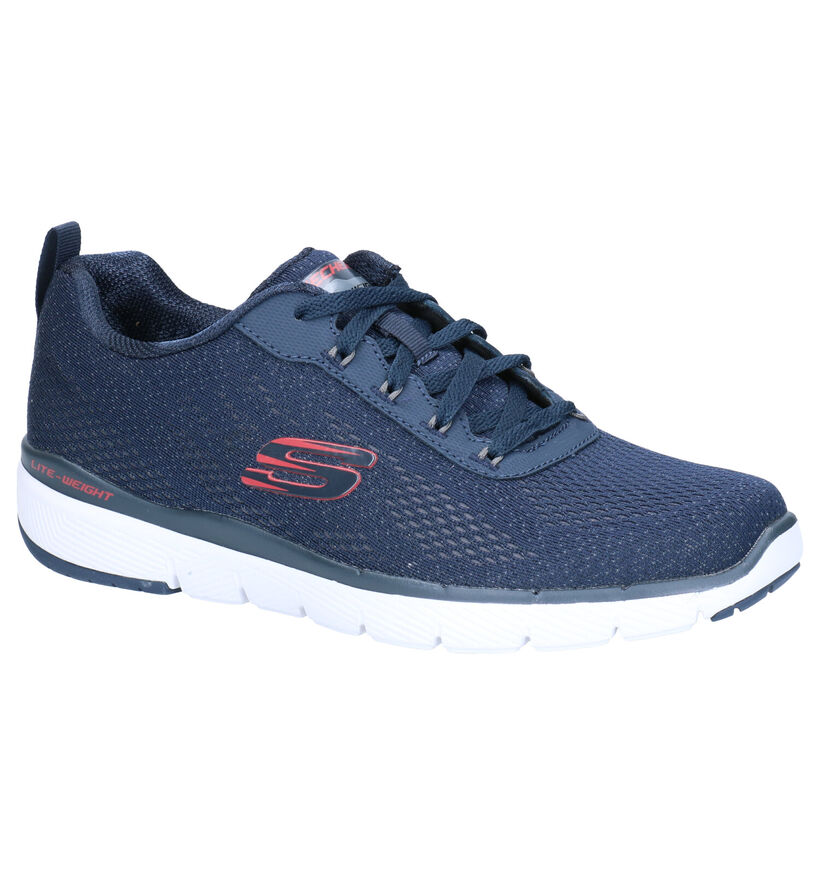 Skechers Flex Adventage Blauwe Sneakers in stof (266938)