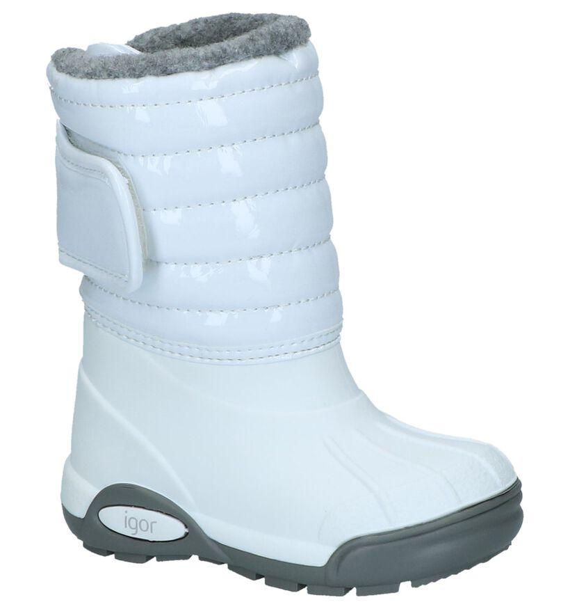 Igor Bottes de neige en Blanc en cuir verni (227110)