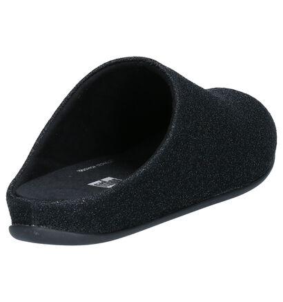 FitFlop Chrissie Glitzy Pantoufles en Noir en textile (256002)