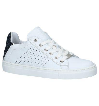 Witte Sneakers met Blauwe Glitters Hampton Bays in leer (213235)