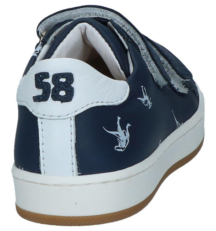 STONES and BONES Chaussures basses en Bleu foncé en cuir (240706)