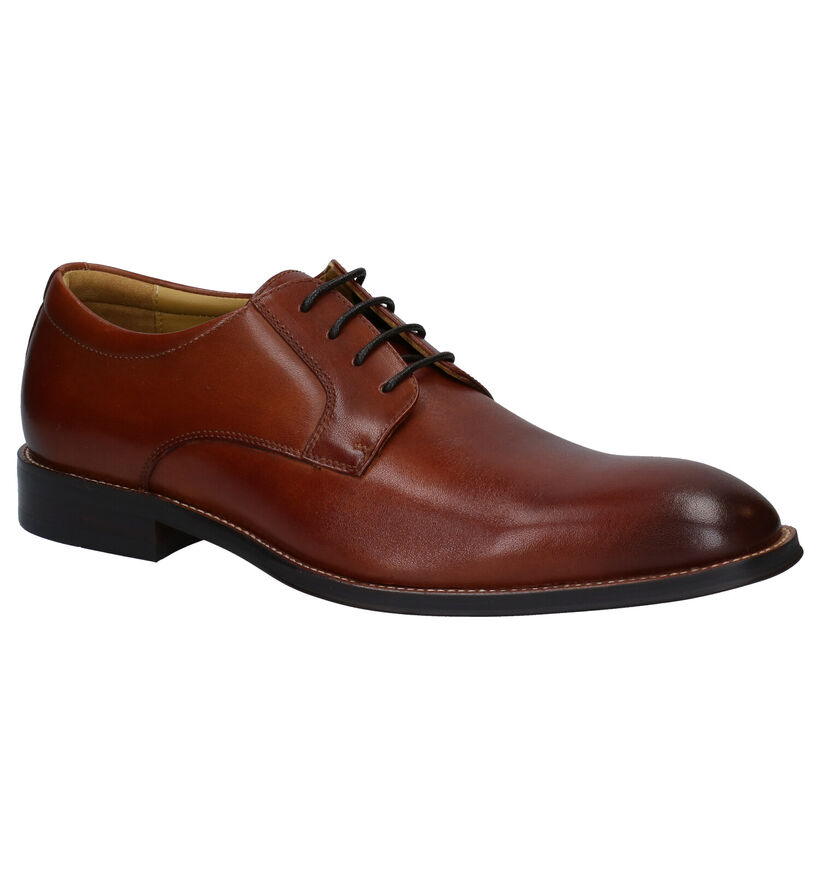Steptronic Nigel Cognac Veterschoenen in leer (281385)
