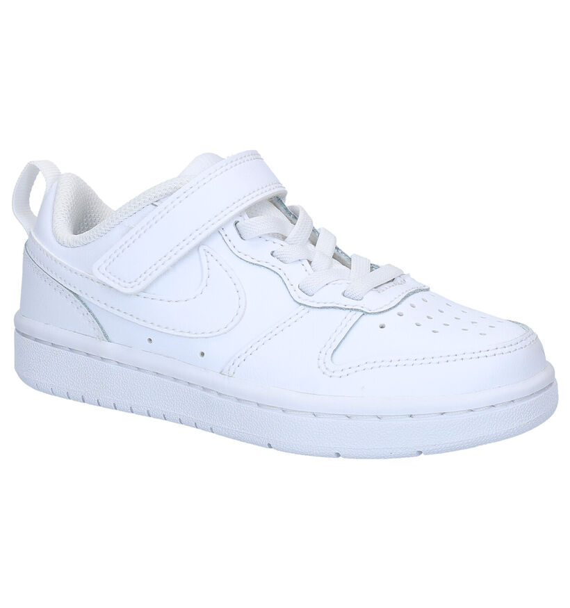Nike Court Borough Low Witte Sneakers in kunstleer (261643)