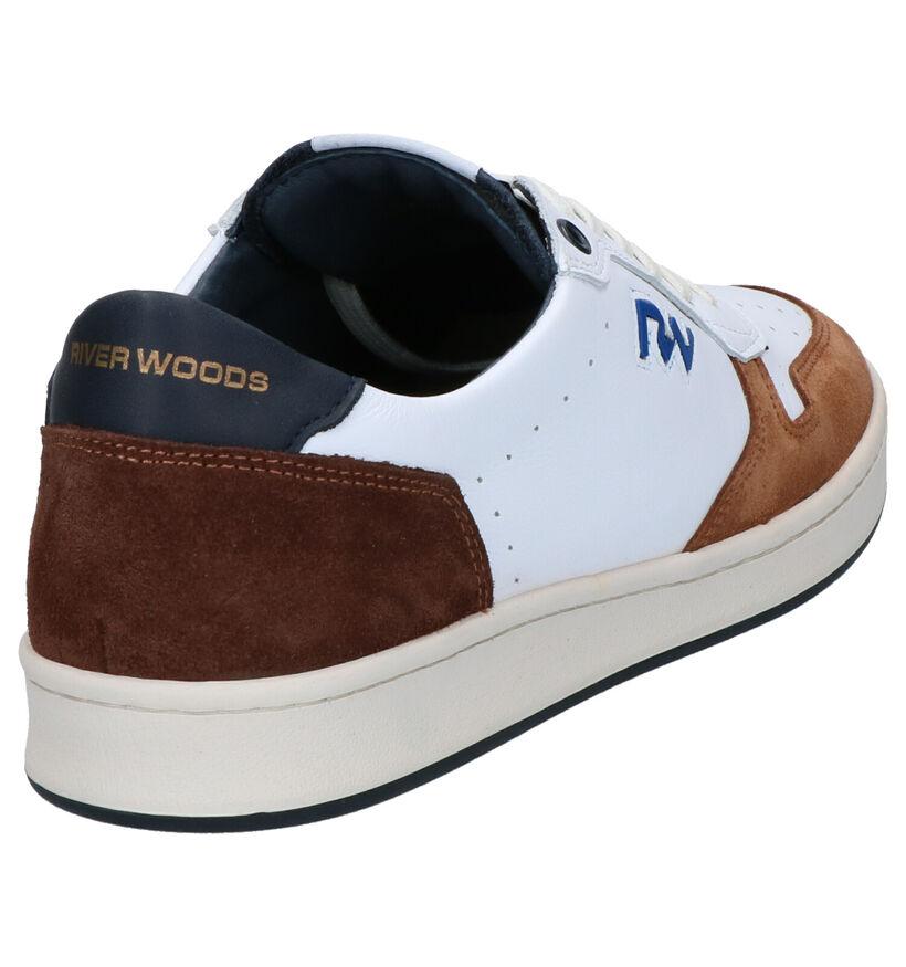 River Woods Bruno Chaussures à Lacets en Blanc en cuir (271418)