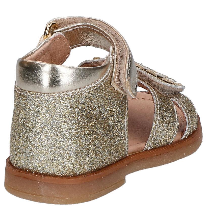Lunella Sandales pour bébé en Or en cuir (266655)
