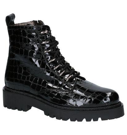 Hip Zwarte Boots in lakleer (259710)